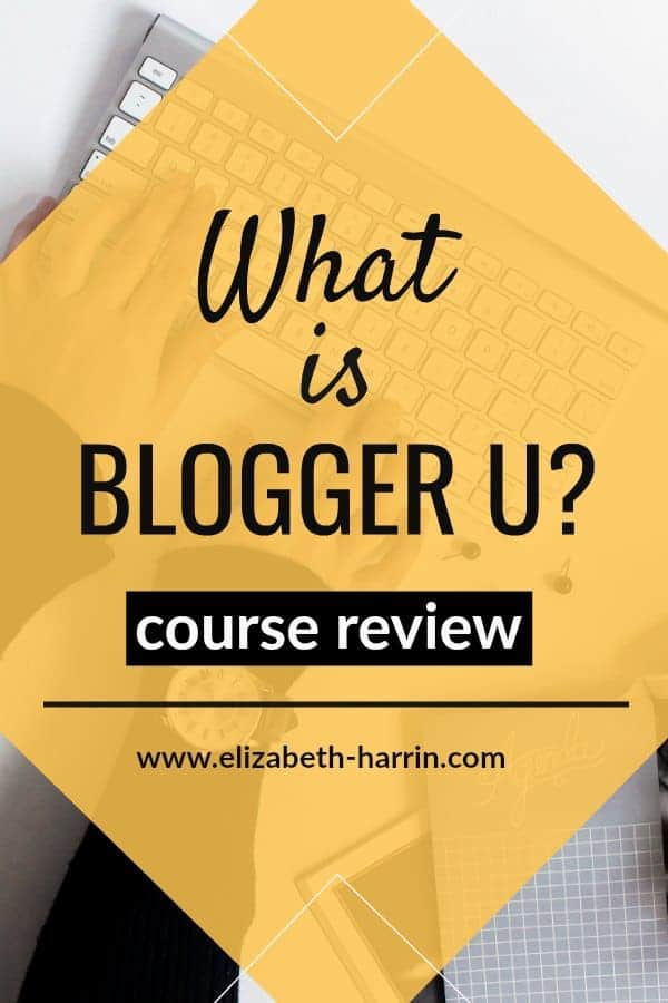 Wondering if Blogger U is right for you? Find out what it is and how I'm doing working through the course material. An honest review of Blogger U