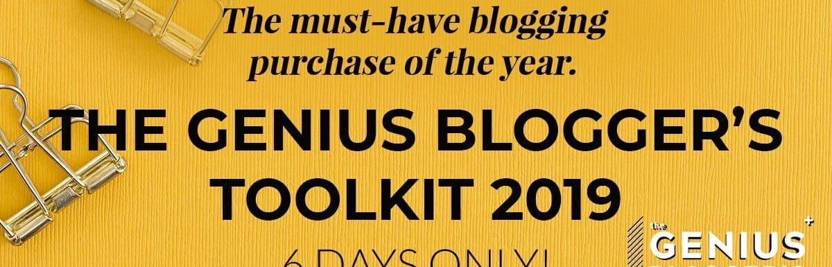 genius bloggers toolkit ad