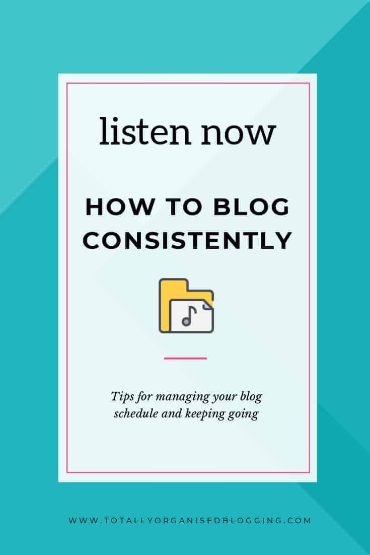 how to blog consistently