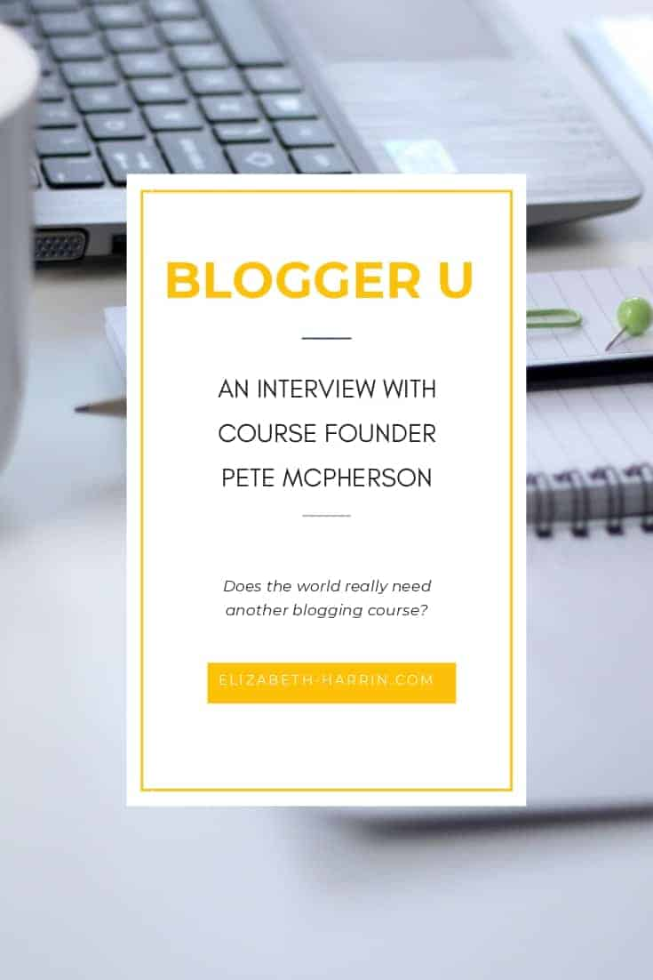 Blogger U interview