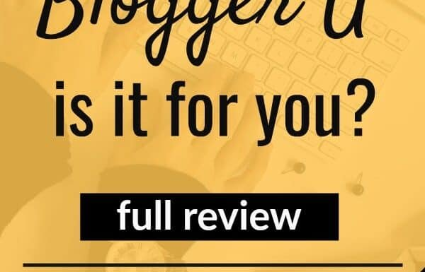 Blogger U course review