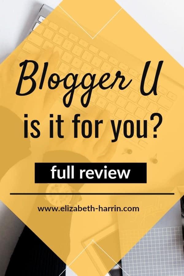 Blogger U Review