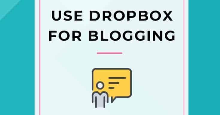 Blogging with Dropbox